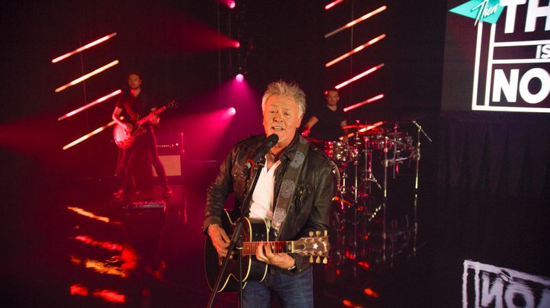 Paul Young performs his song
