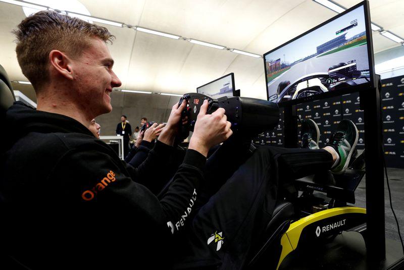 FILE PHOTO: Esports - A look into Renault F1's esports facility