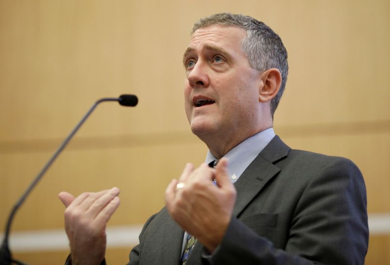 FILE PHOTO: FILE PHOTO: St. Louis Federal Reserve Bank President James Bullard speaks at a public lecture in Singapore