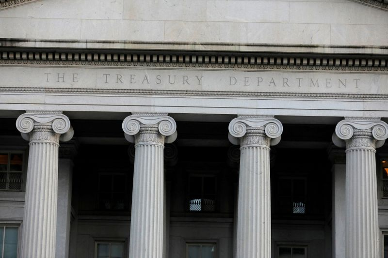 FILE PHOTO: FILE PHOTO: The United States Department of the Treasury is seen in Washington, D.C.
