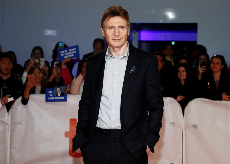 FILE PHOTO: Actor Liam Neeson arrives for the world premiere of Widows at the Toronto International Film Festival (TIFF) in Toronto