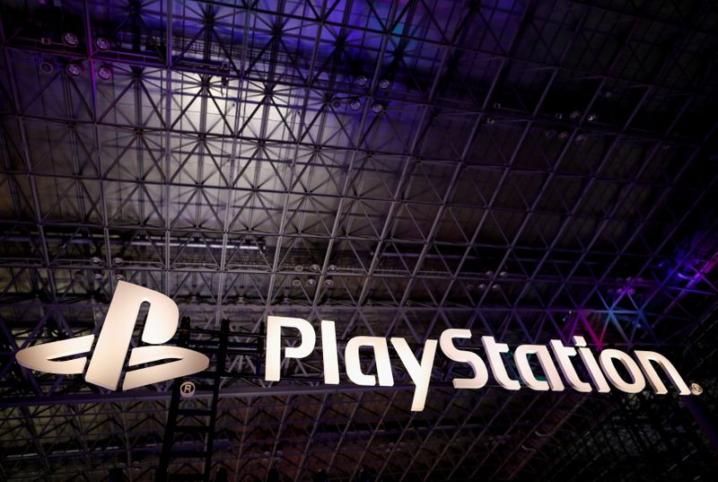 FILE PHOTO: The logo of Sony PlayStation is displayed at Tokyo Game Show 2019 in Chiba