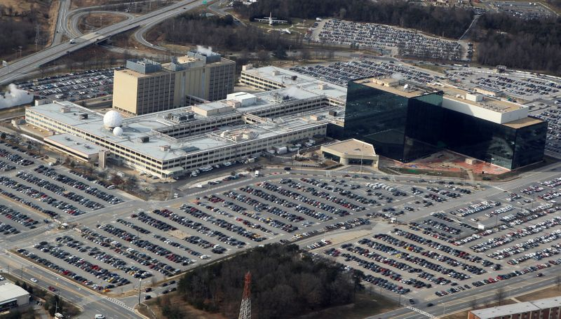 FILE PHOTO: FILE PHOTO: An aerial view of the National Security Agency headquarters in Ft. Meade, Maryland
