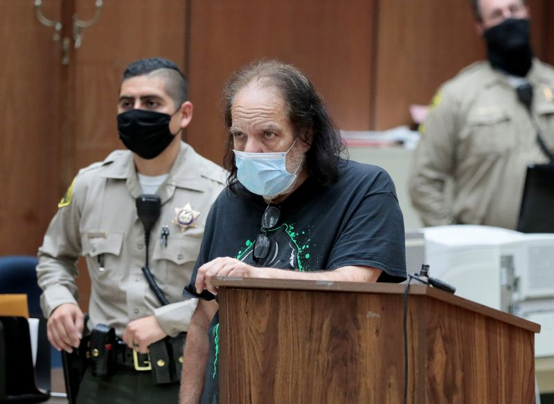FILE PHOTO: Adult film star Ron Jeremy makes first appearance in Los Angeles County Superior Court