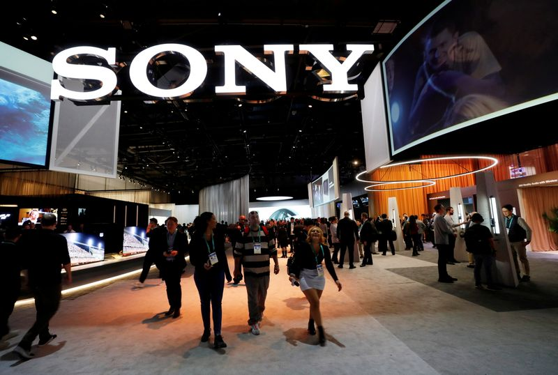 FILE PHOTO: A view of the Sony booth during the 2020 CES in Las Vegas