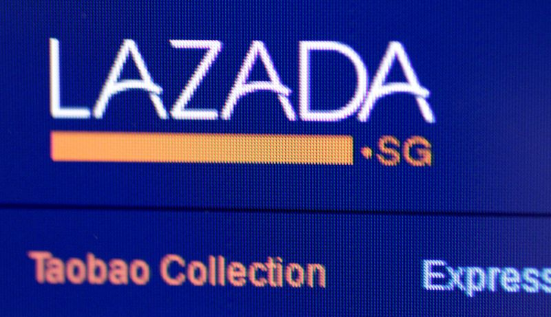 Illustration photo of the Lazada website