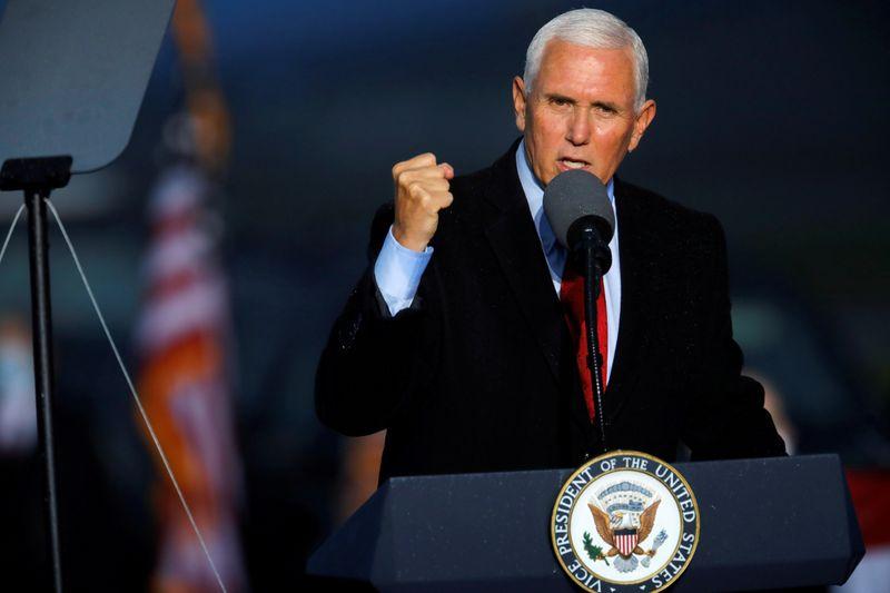 FILE PHOTO: U.S. Vice President Mike Pence rally in Kinston, North Carolina