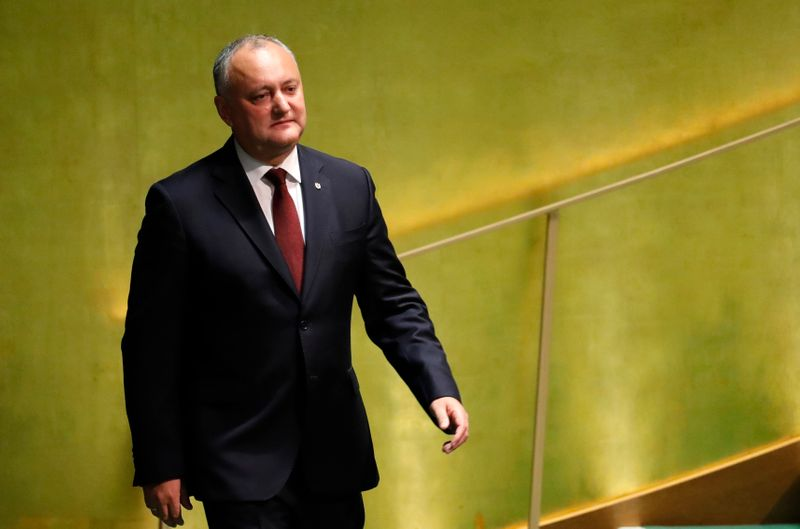Moldova's President Igor Dodon arrives to address the 74th session of the United Nations General Assembly at U.N. headquarters in New York City, New York, U.S.