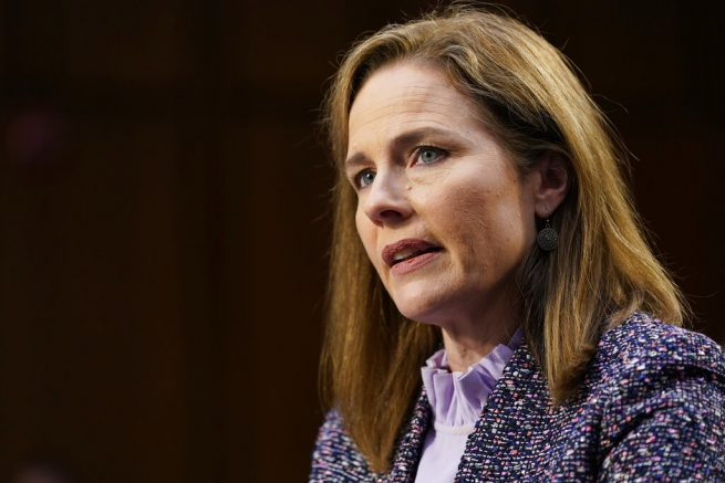 Barrett rebuffs questions on abortion in confirmation hearing