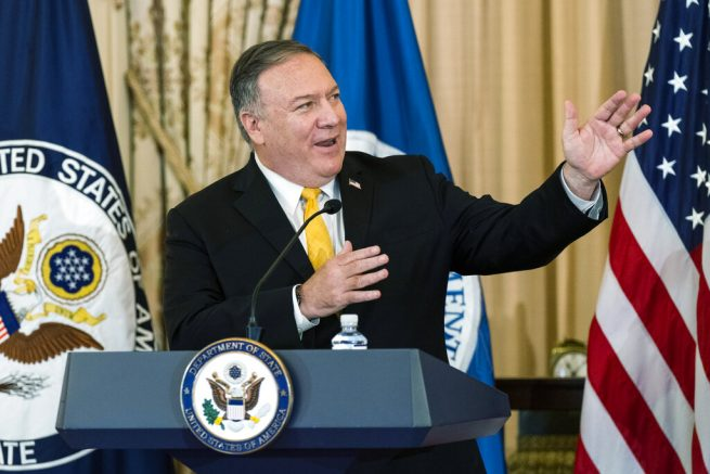 U.S.  secretary of state hits out at China during Sri Lanka visit