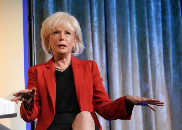 Journalist Lesley Stahl speaks onstage during an interview