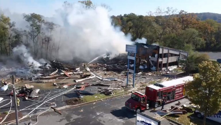 Five injured in U.S. shopping center gas explosion