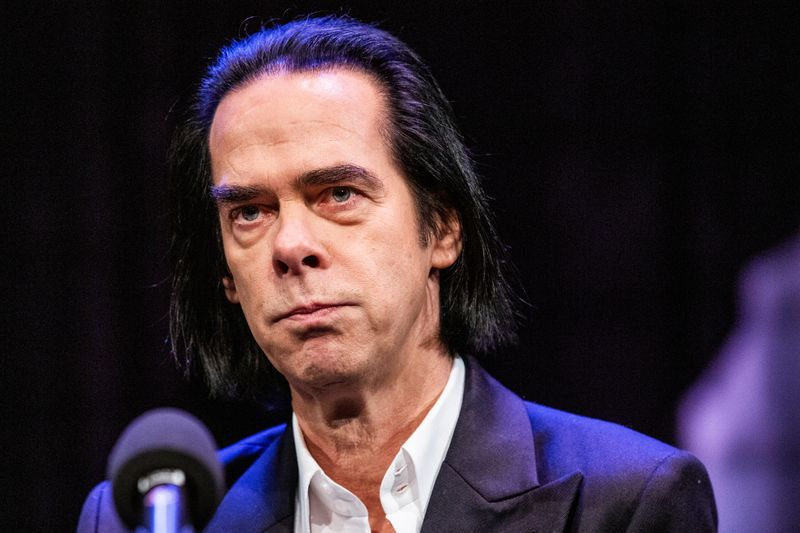 Australian artist Nick Cave attends a news conference to promote his exhibition 'Stranger Than Kindness' in Copenhagen