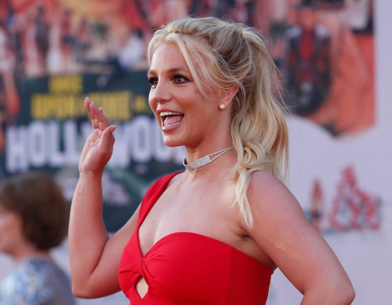 FILE PHOTO: Britney Spears poses at the premiere of