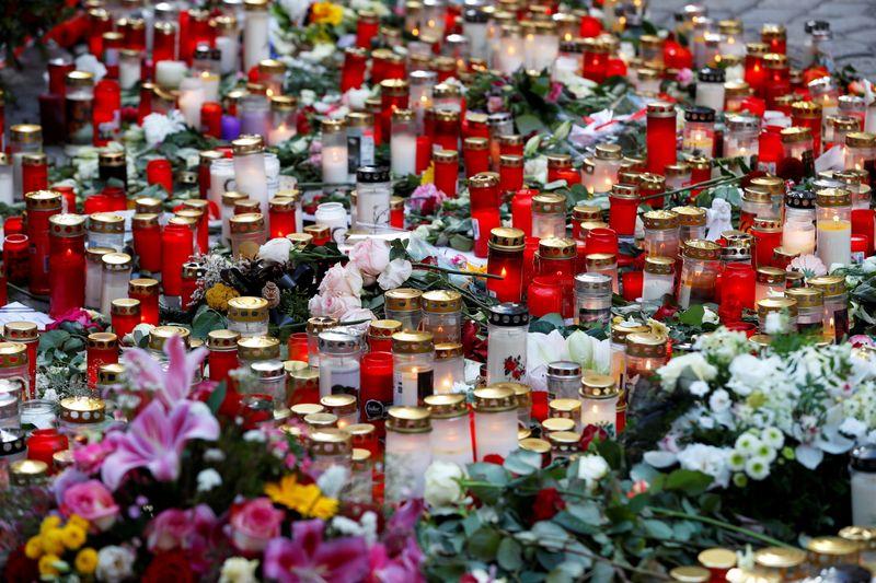 Site of a gun attack in Vienna