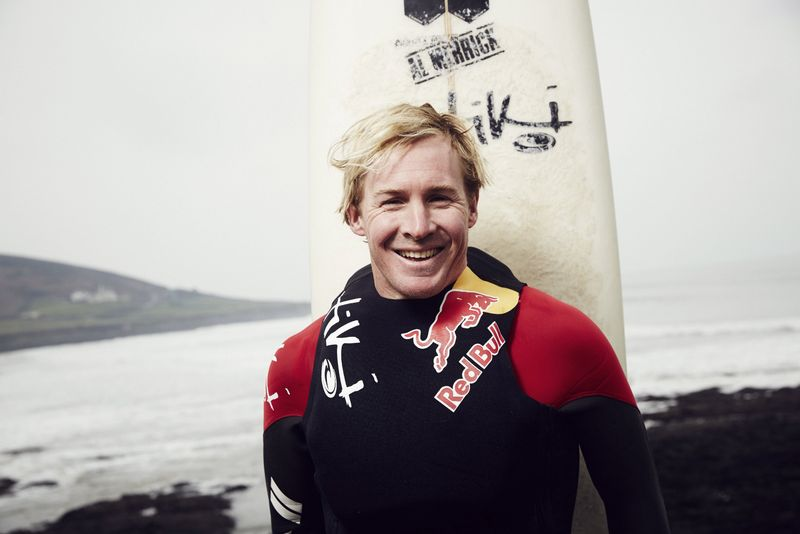 FILE PHOTO: Andrew Cotton poses for a portrait during a training session in his hometown Croyde
