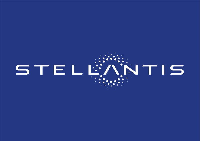 The logo of Stellantis