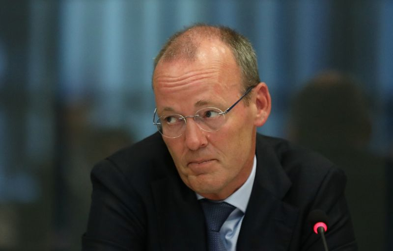 FILE PHOTO: ECB board member Knot appears at a Dutch parliamentary hearing in The Hague