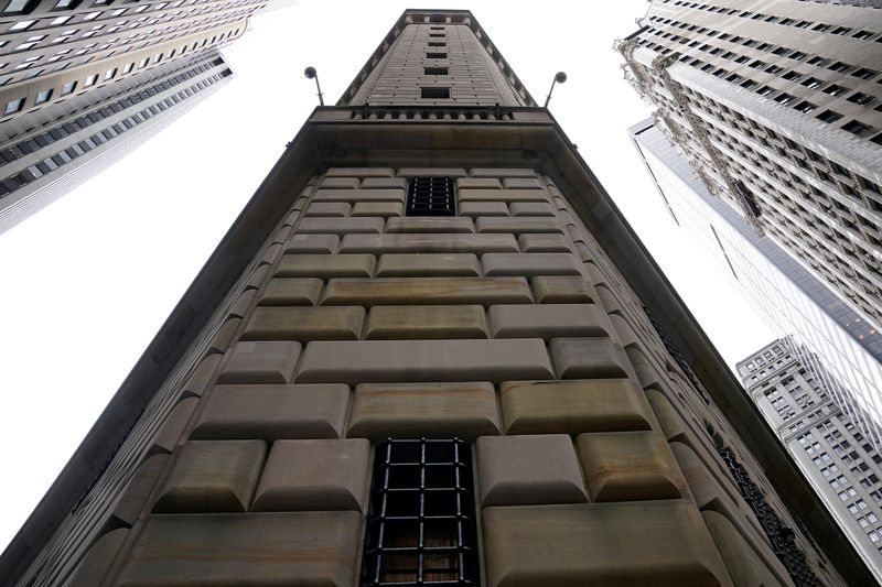 FILE PHOTO: The Federal Reserve Bank of New York is pictured in the Manhattan borough of New York City