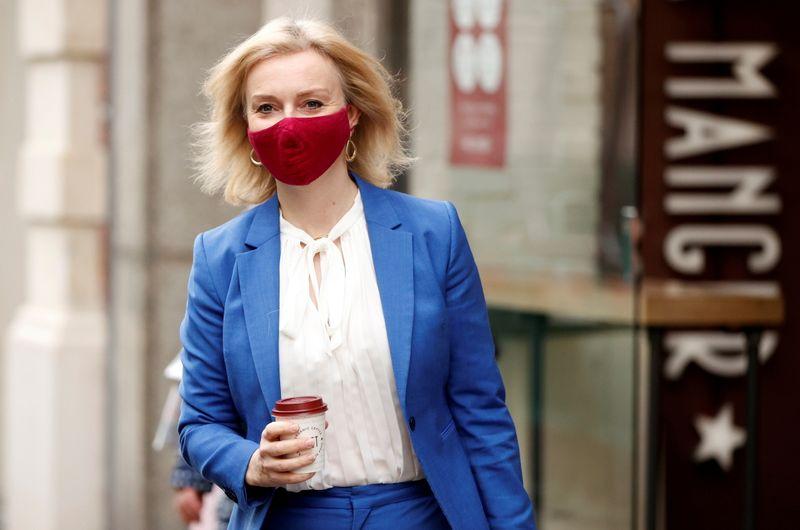 FILE PHOTO: Britain's International Trade Secretary Liz Truss is seen in London