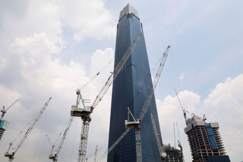 The construction site of the Exchange 106 is pictured in Kuala Lumpur