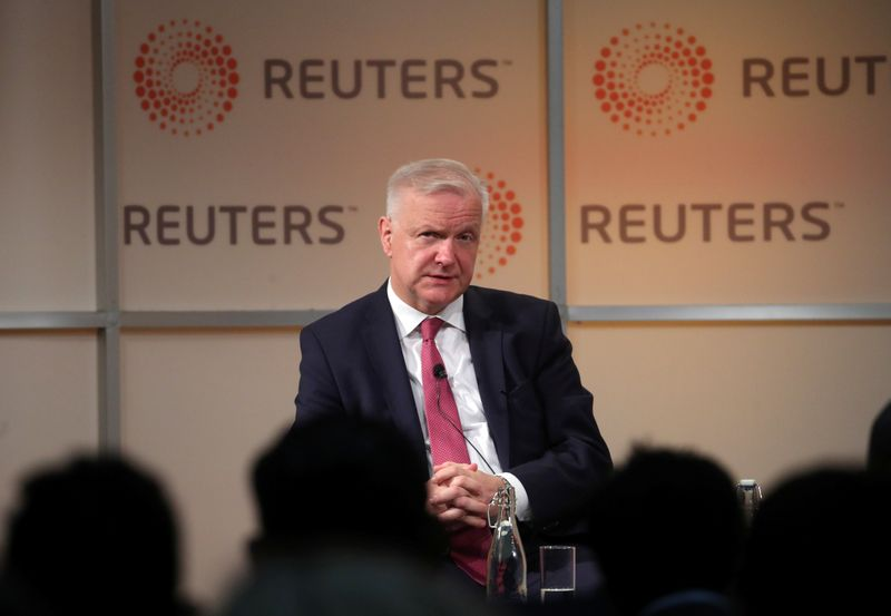 Governor of the Bank of Finland, Olli Rehn attends a Reuters Newsmaker event in London