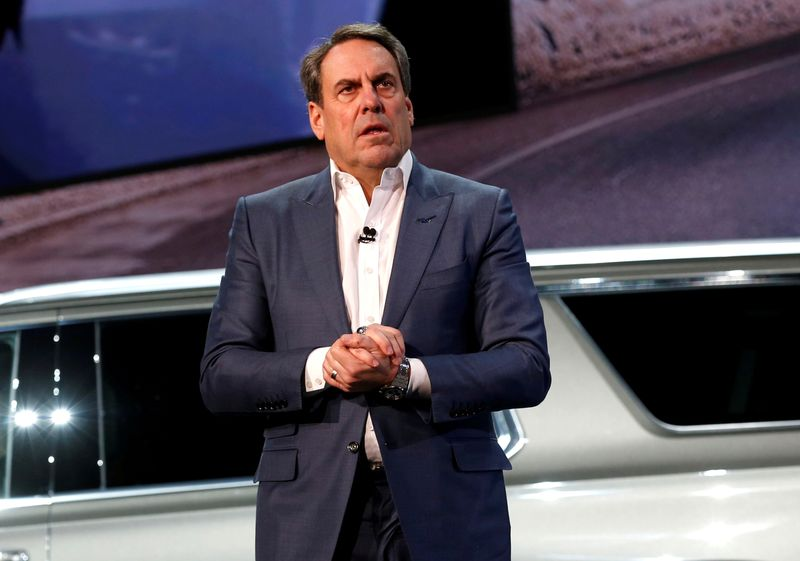 FILE PHOTO: General Motors President Reuss talks about the Chevrolet 2021 Suburban and Tahoe SUVs in Detroit