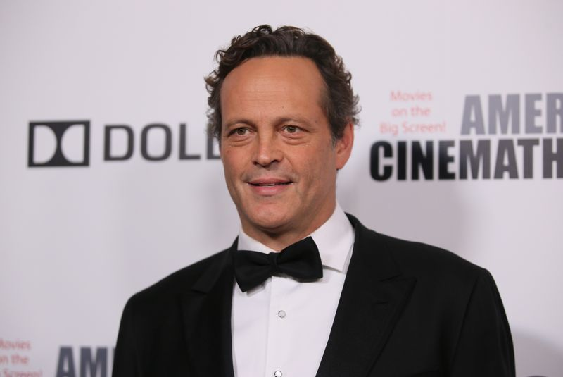 Actor Vince Vaughn poses at the 32nd American Cinematheque Award ceremony honoring Bradley Cooper in Beverly Hills,