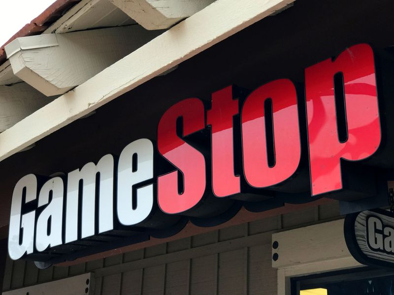 A GameStop Inc. store is shown in Encinitas, California