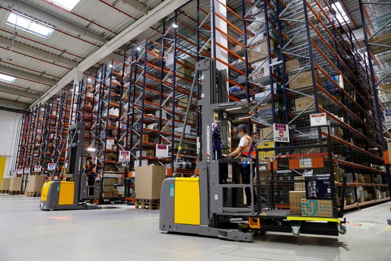 FILE PHOTO: A look inside France Amazon's expanding operations