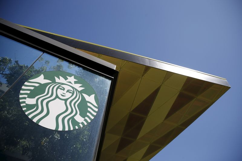 FILE PHOTO: A Starbucks cafe is seen in Los Angeles