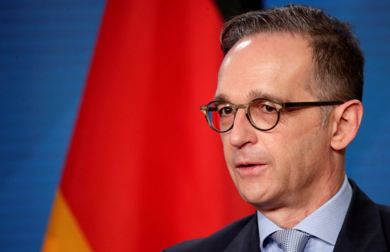 German Foreign Minister Heiko Maas and his Palestinian counterpart al-Maliki meet in Berlin