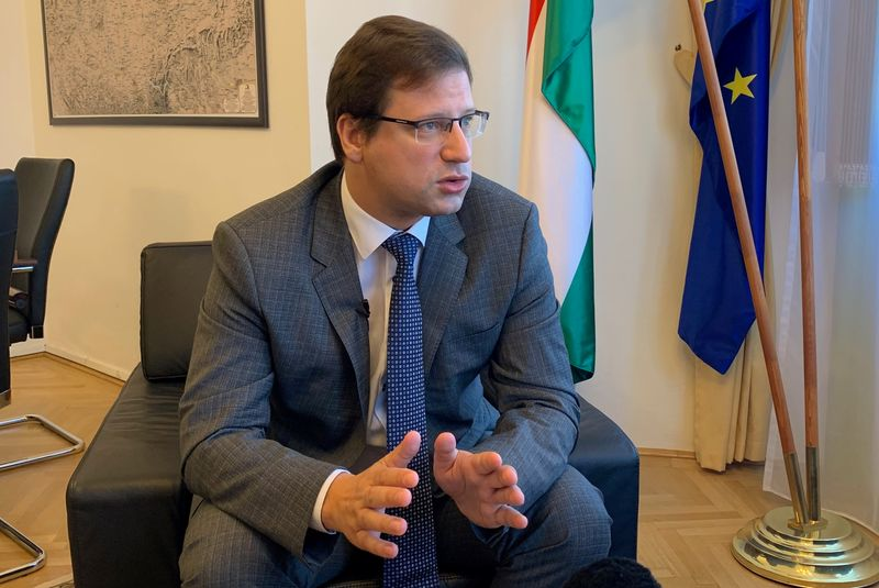 Gergely Gulyas, Hungarian Prime Minister Viktor Orban's chief of staff speaks during an interview in his office in Budapest