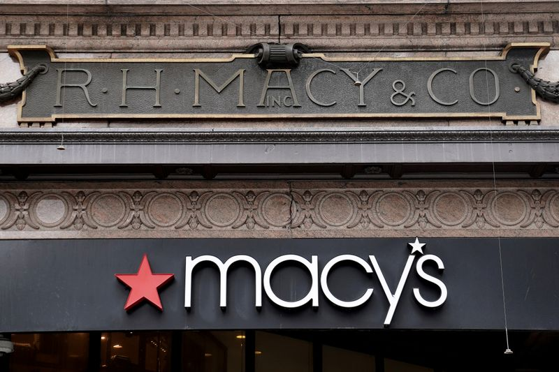 FILE PHOTO: A Macy's store is pictured during the spread of the coronavirus disease (COVID-19) in the Manhattan borough of New York City
