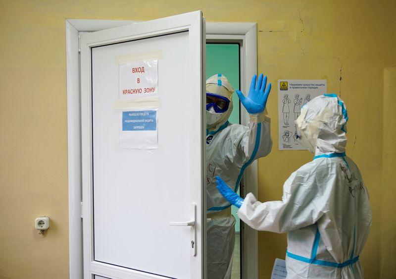 FILE PHOTO: Coronavirus disease (COVID-19) pandemic, in Tver