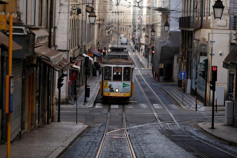 FILE PHOTO: Spread of the coronavirus disease (COVID-19) in Lisbon