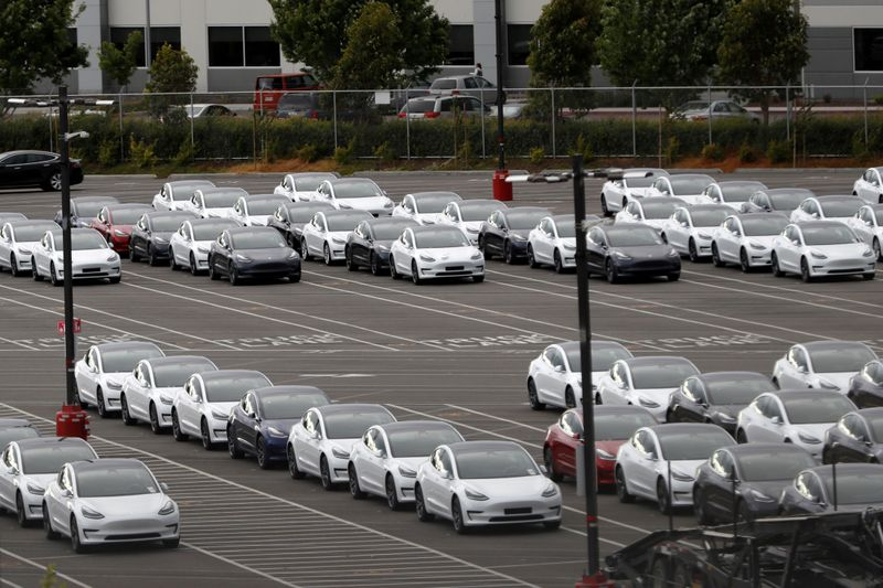 FILE PHOTO: Tesla's primary vehicle factory in Fremont, California