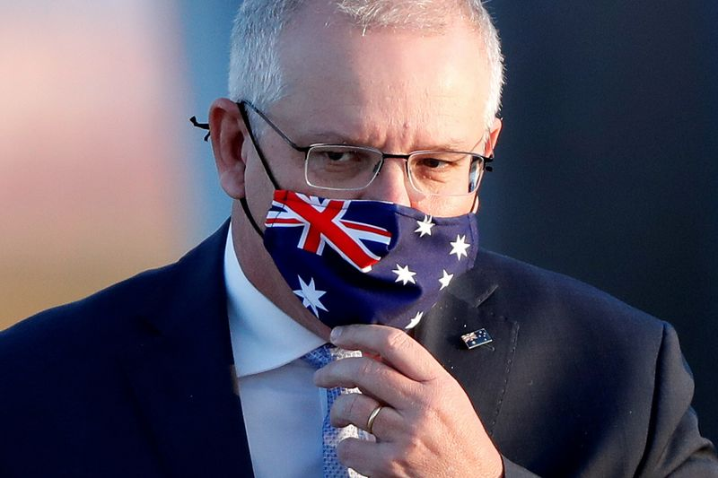 Australian Prime Minister Scott Morrison visits Tokyo