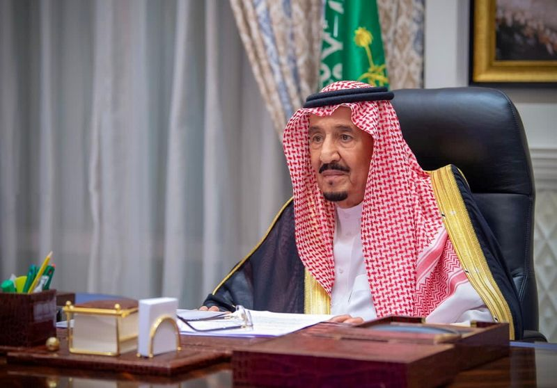 FILE PHOTO: Saudi Arabia's King Salman inaugurates the first session of Shura council