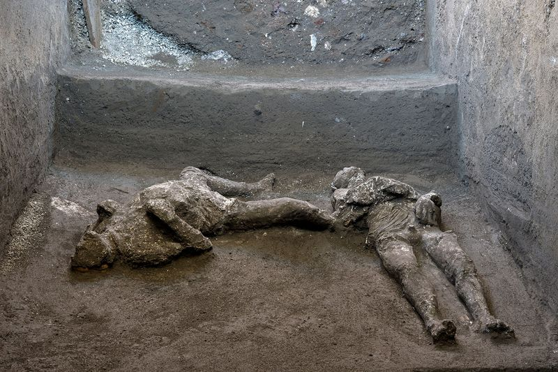 Remains of two men who died in the volcanic eruption that destroyed the ancient Roman city of Pompeii are discovered
