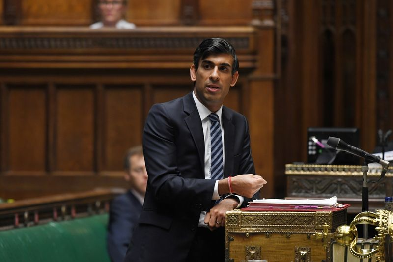 FILE PHOTO: Britain's Chancellor of the Exchequer Rishi Sunak speaks at the House of Commons in London