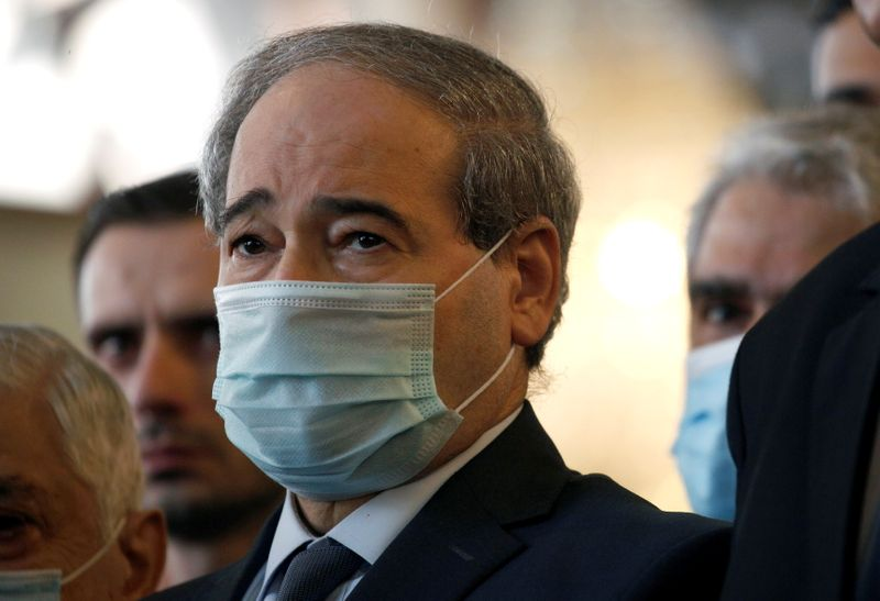 FILE PHOTO: Syria's Deputy Foreign Minister Faisal al Mekdad, attends the funeral of Syria's Foreign Minister Walid al-Moalem, at Saad bin Muath Mosque in Damascus