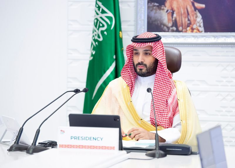 Saudi Crown Prince Mohammed bin Salman chairs final session of the 15th annual G20 Leaders' Summit in Riyadh