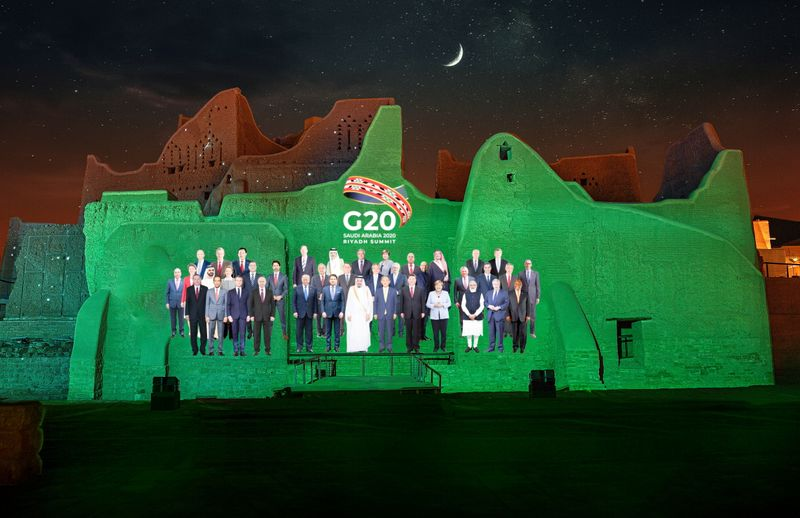 FILE PHOTO: Family Photo composite for annual G20 Leaders' Summit in Diriyah