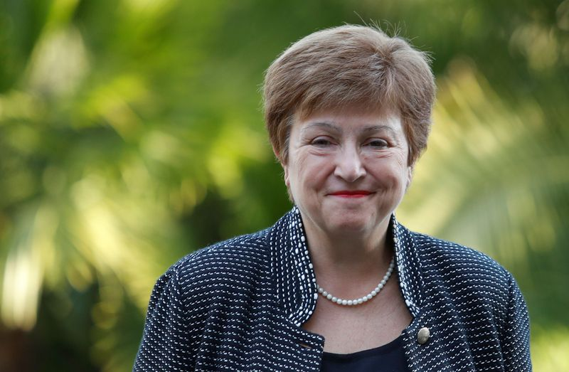 FILE PHOTO: IMF Managing Director Kristalina Georgieva arrives for a conference hosted by the Vatican on economic solidarity