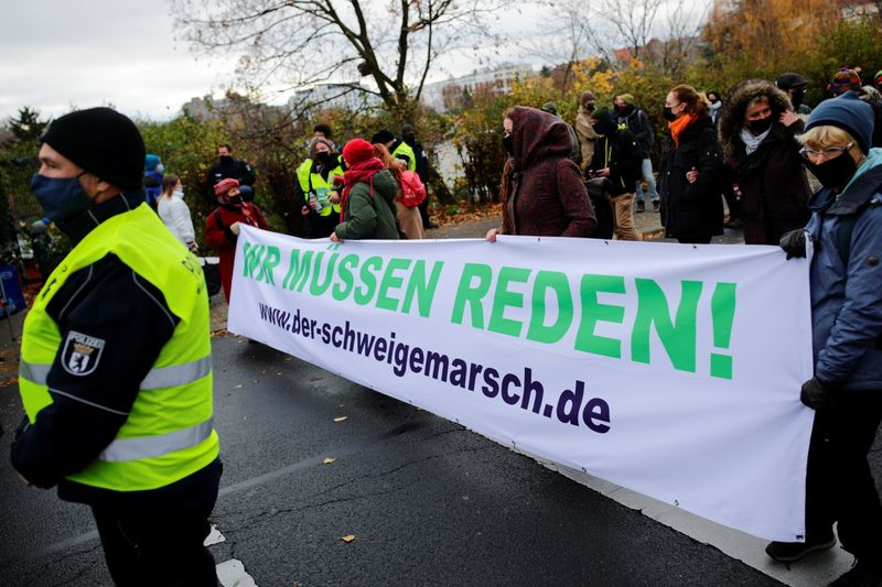 Demonstration against the government's COVID-19 restrictions in Berlin