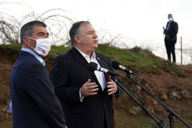 Pompeo visits Golan Heights, West Bank settlement
