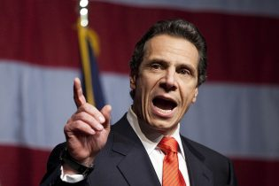 N.Y. Gov. Cuomo gets heated with reporters over questions regarding closures
